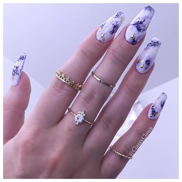 53 incredible marble art nail designs you can do at home water marble nails 02071637 prinsesfo Gallery