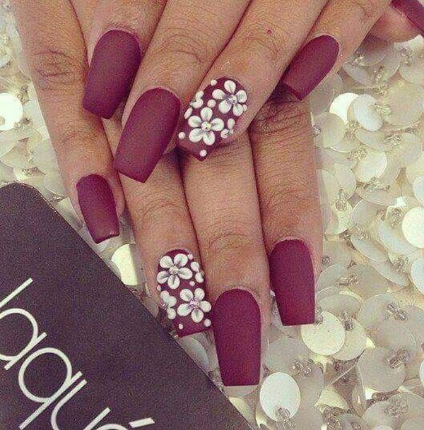 50 amazing burgundy nails you definately have to try 15110816burgundy nails prinsesfo Choice Image